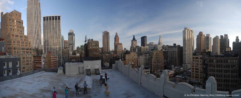 on a rooftop in Manhattan, aka 'the making of'