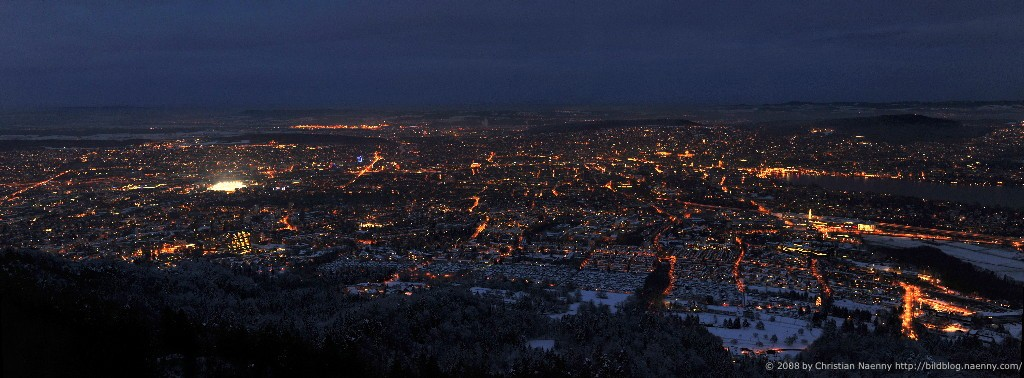 Dark Blue Hour from Uetliberg