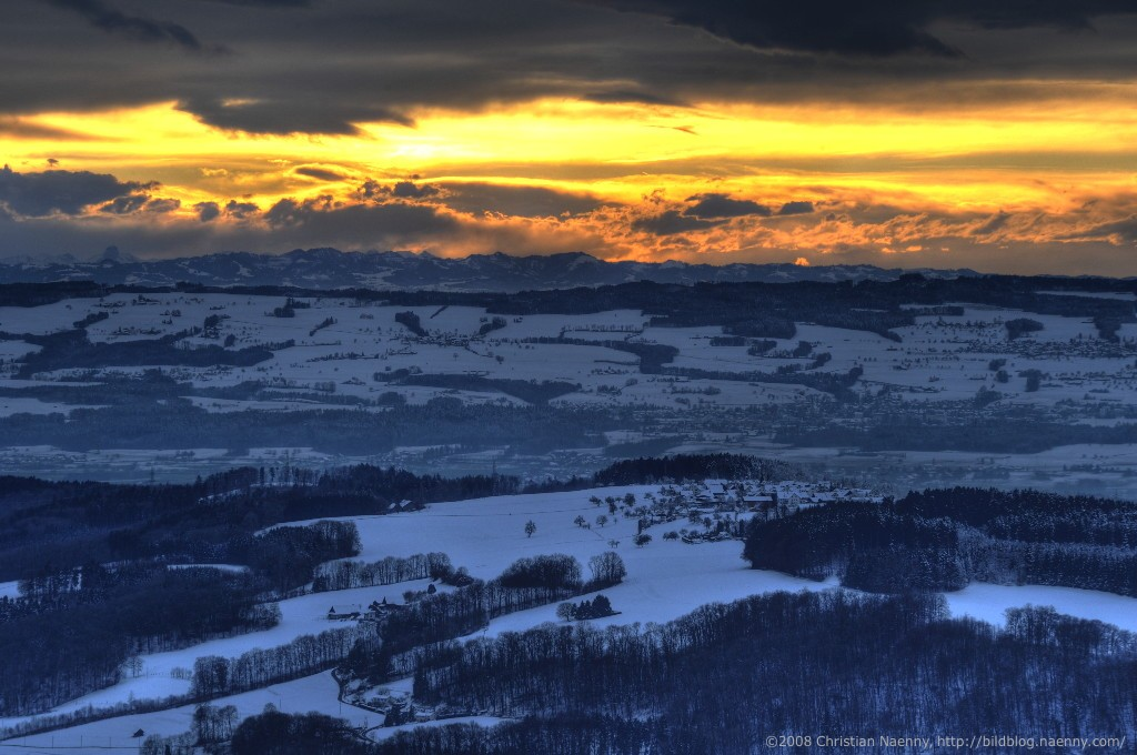 sunset from uetliberg in HDR